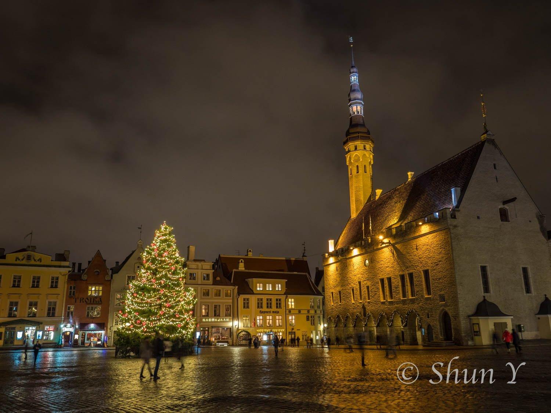 エストニアの夜景