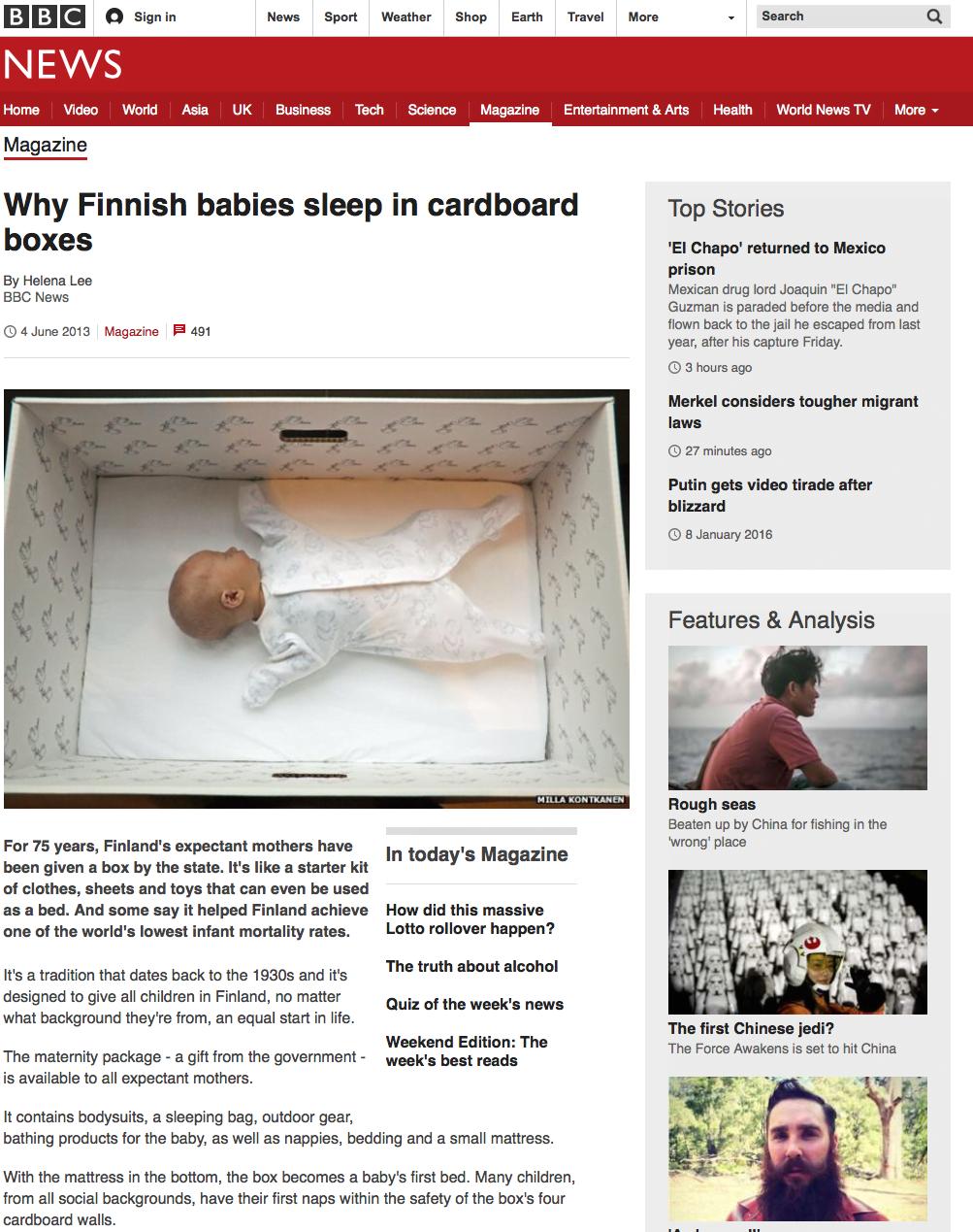 フィンランドの出産祝い