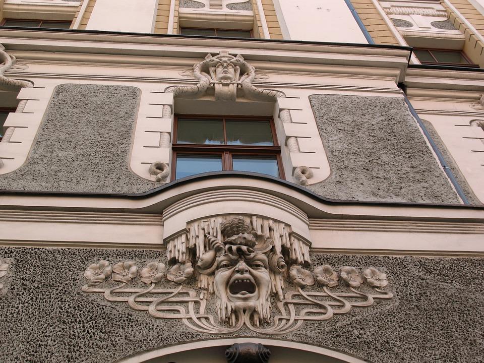 アールヌーボーラトビア建築