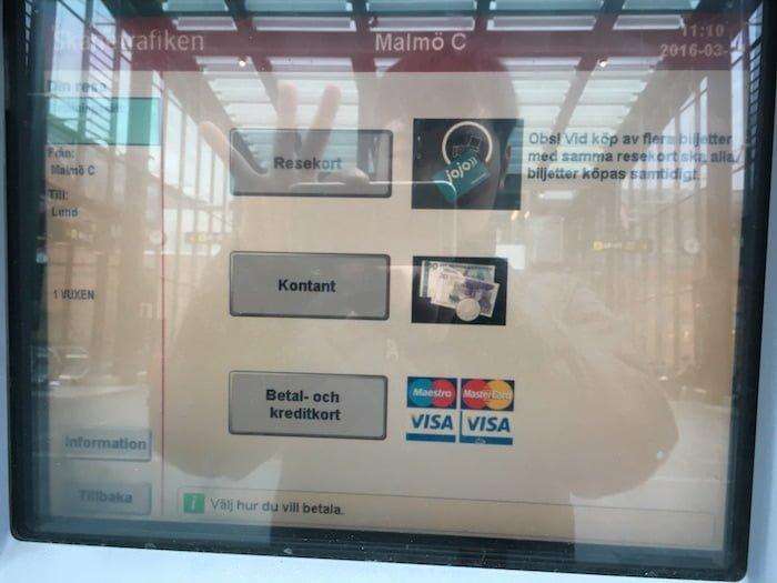 スウェーデン券売機