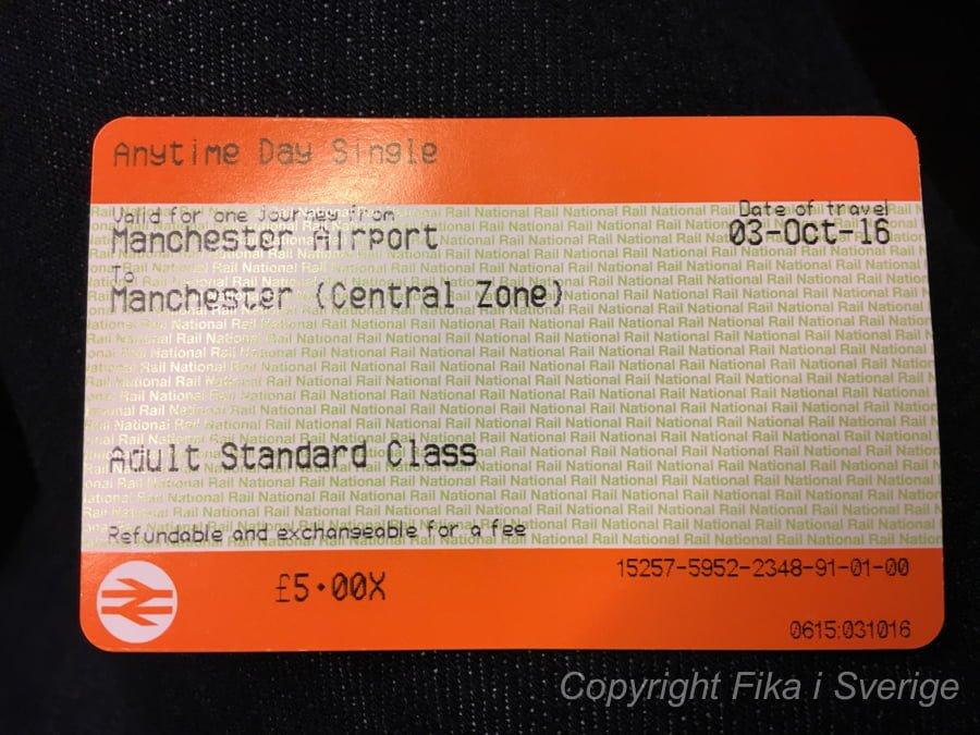 マンチェスター切符