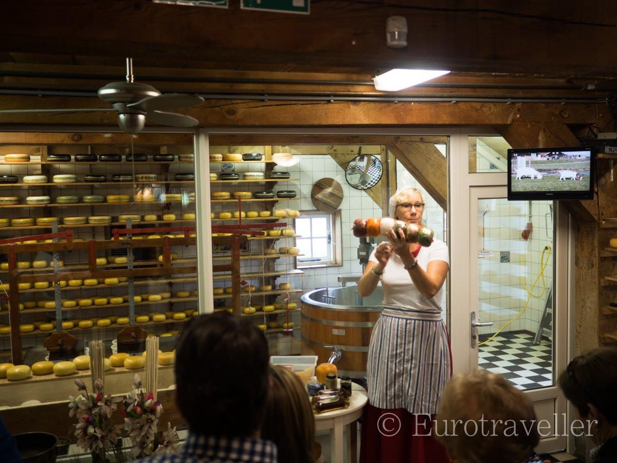 オランダのチーズ工場