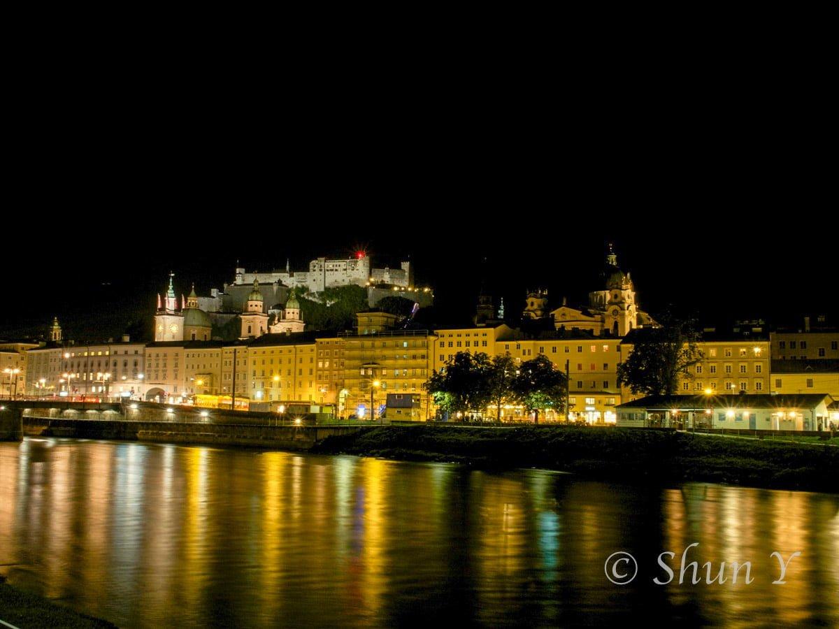 ザルツブルグの夜景