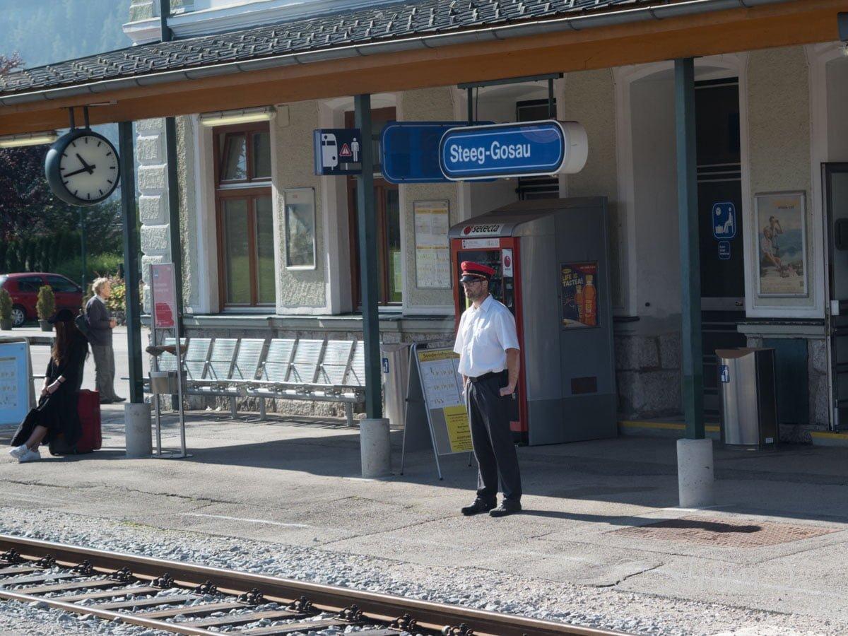 ハルシュタットへの列車