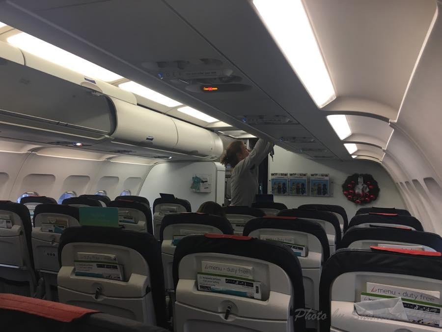 ブリュッセル航空機内