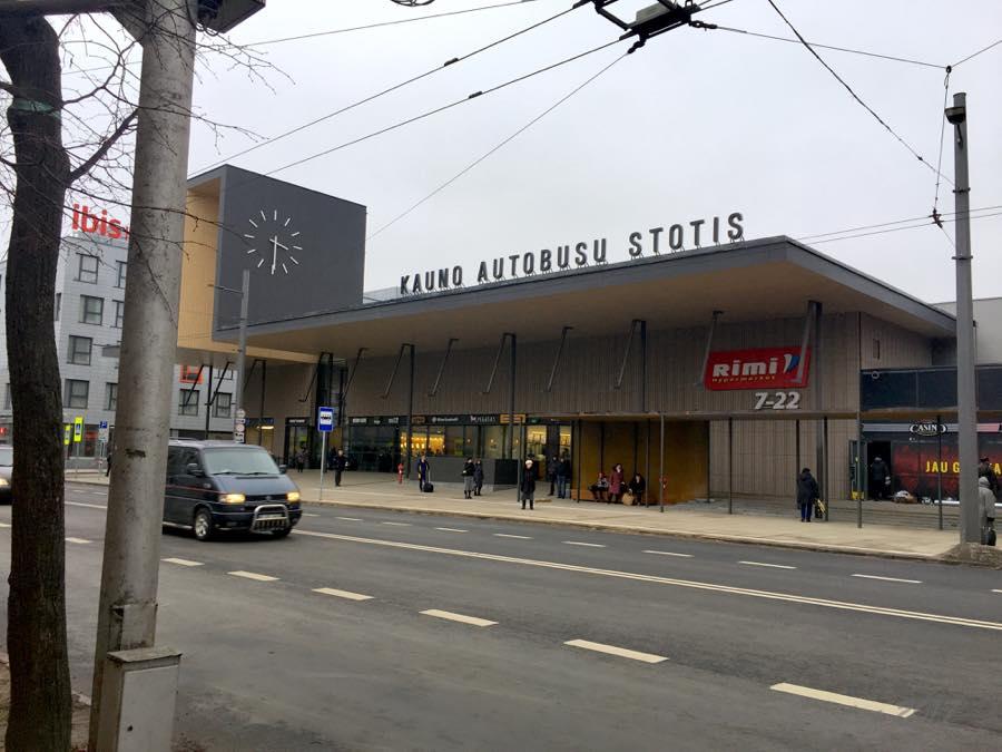 Kauno autobusų stotis, Karaliaus Mindaugo prospektas, Kaunas, Lithuania