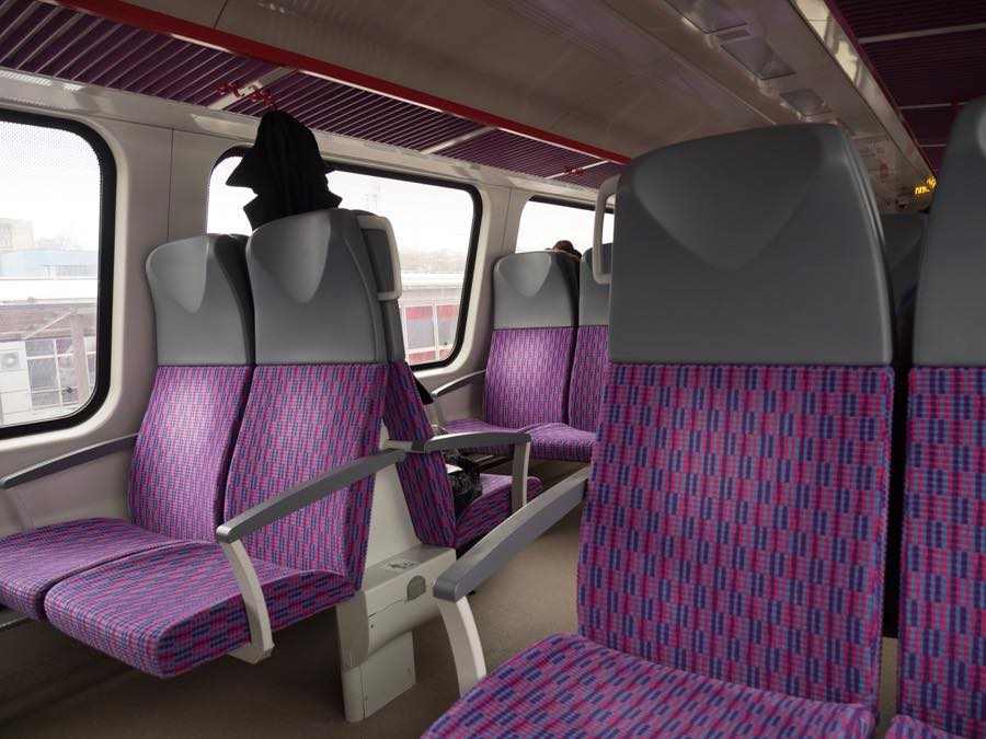 リトアニア国鉄車内