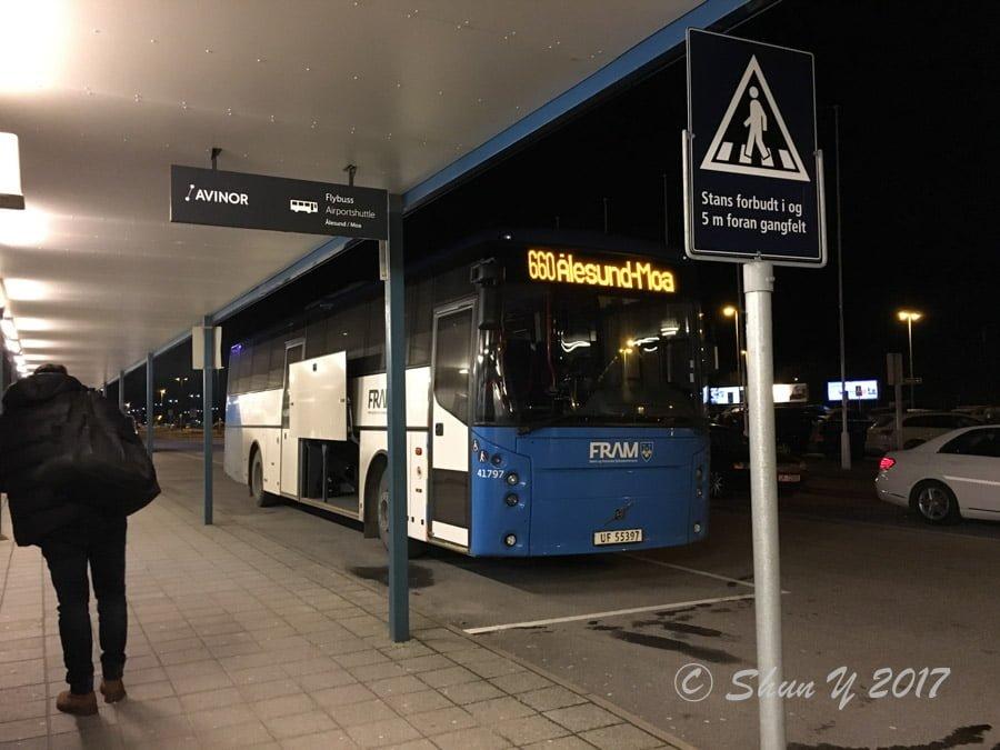 オーレスン空港アクセスバス-3