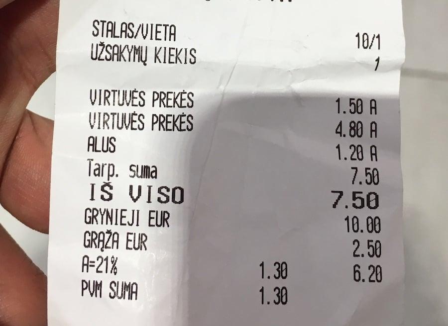 リトアニア物価