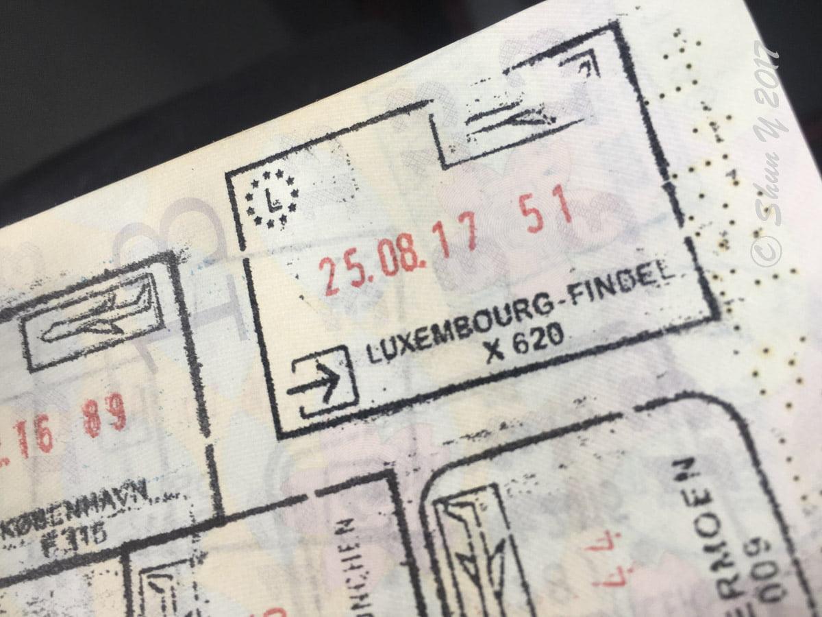 ルクセンブルグ入国