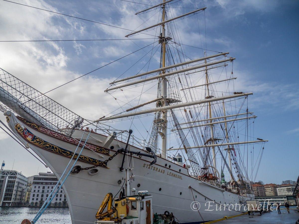 ベルゲンの帆船