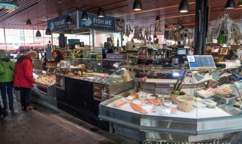 ベルゲンの観光名所魚市場