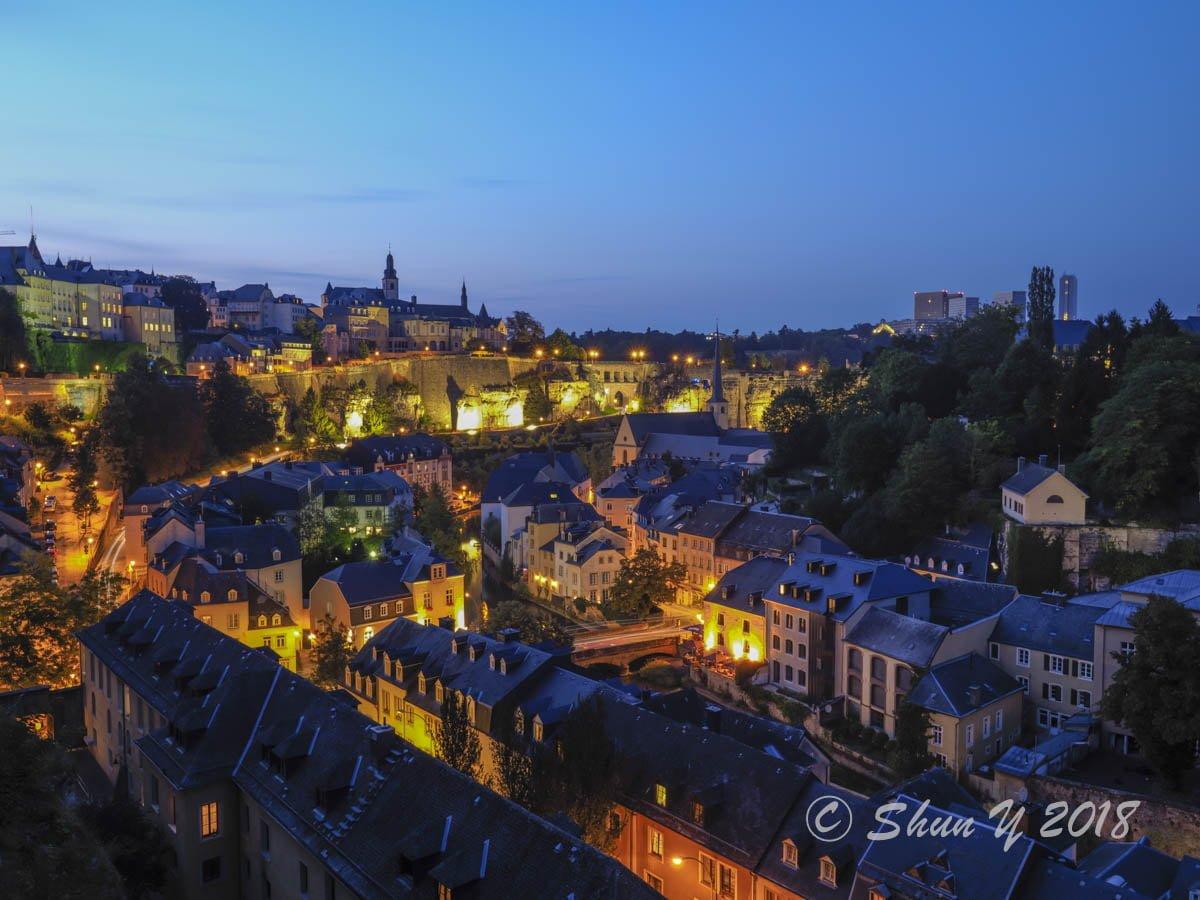 ルクセンブルグの夜景
