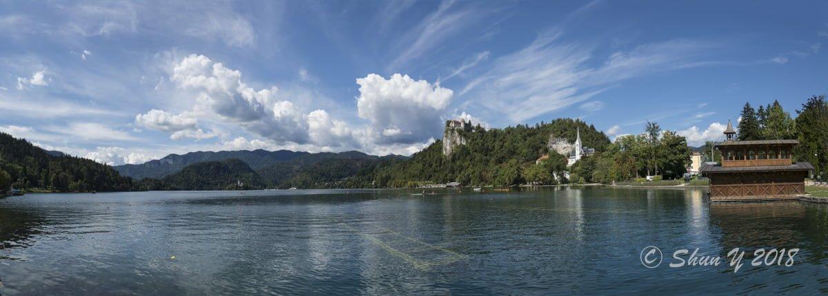 ブレッド湖絶景