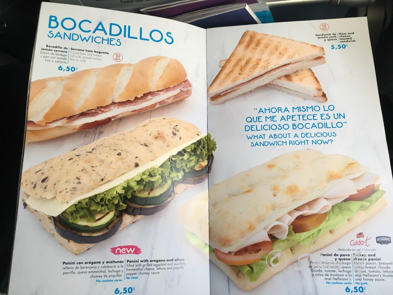 エアヨーロッパの機内食