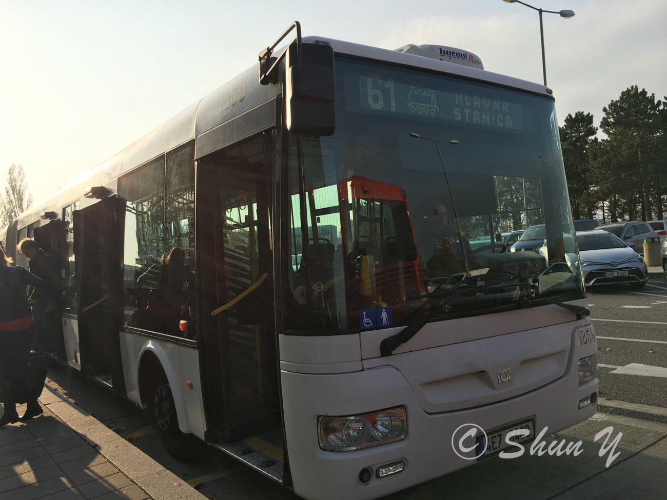 ブラチスラバ空港バス