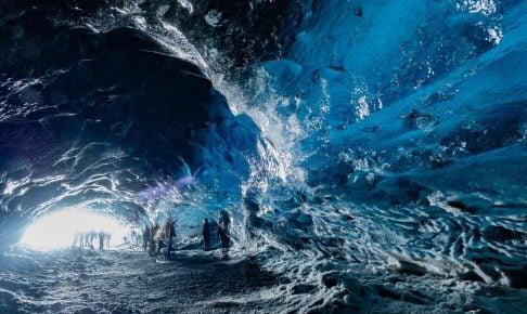 アイスランド氷の洞窟