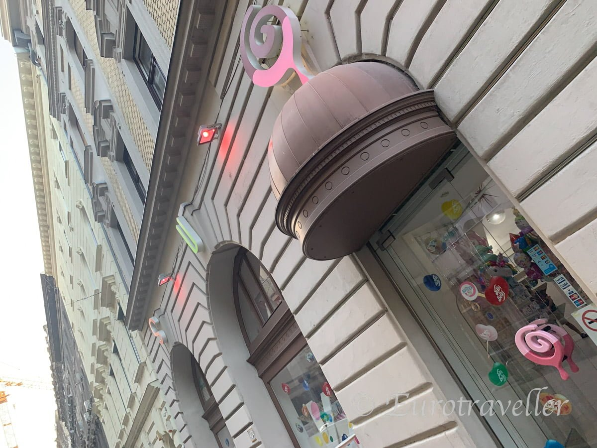 ブダペストのスイーツショップ